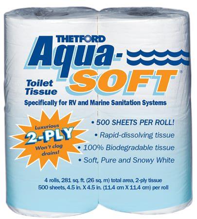 Aqua Soft 4-Pk 2-Ply Toilet Tissue