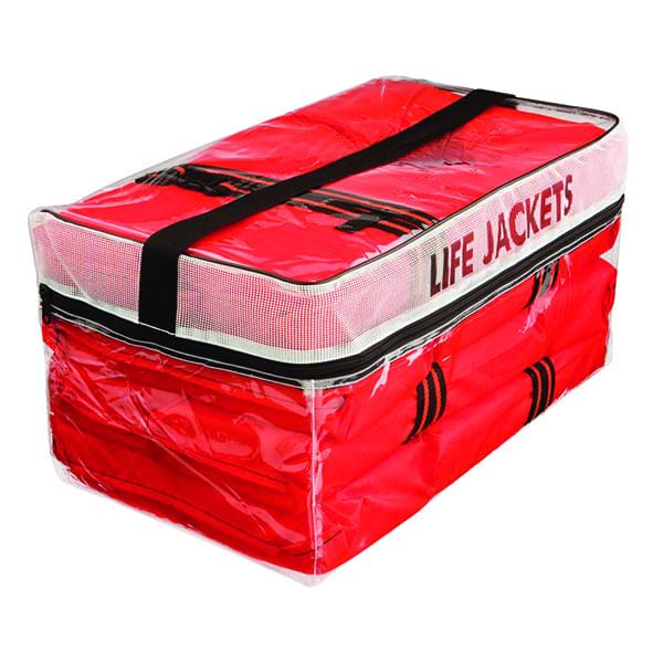 Life Vest Storage Bag with Four Type II Vests