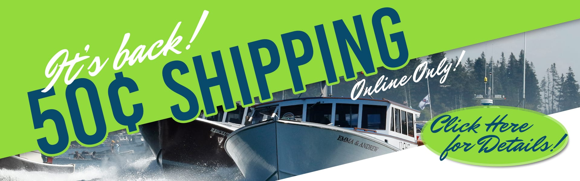 50¢ Shipping is Back! Click for Details