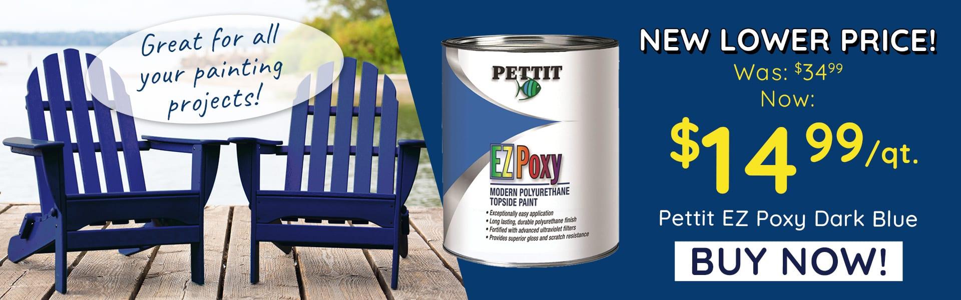 Pettit EZ Poxy Dark Blue Qt. Sale